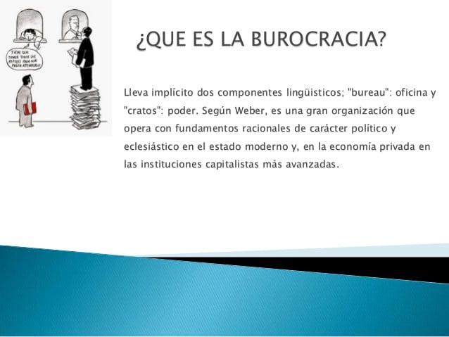 Qué es la Burocracia