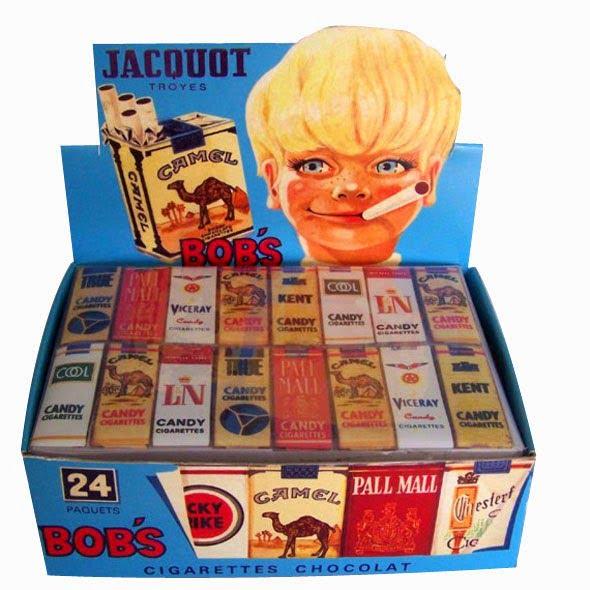 Los malvadas golosinas en forma de tabaco