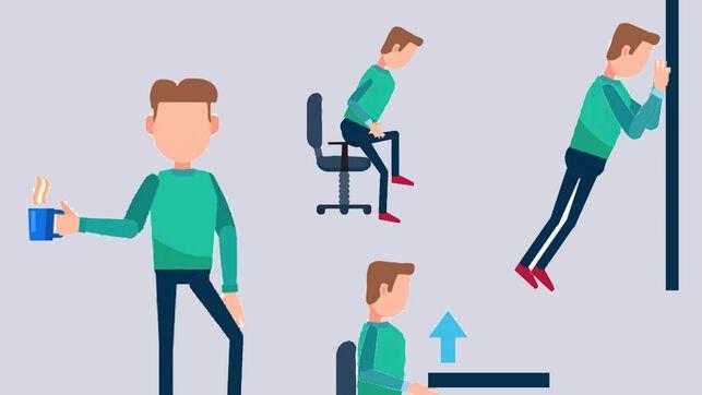 Flexiones de tríceps de escritorio