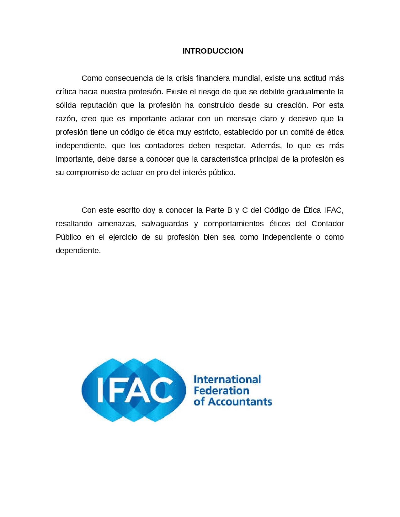 La IFAC apoya reglas de independencia más fuertes