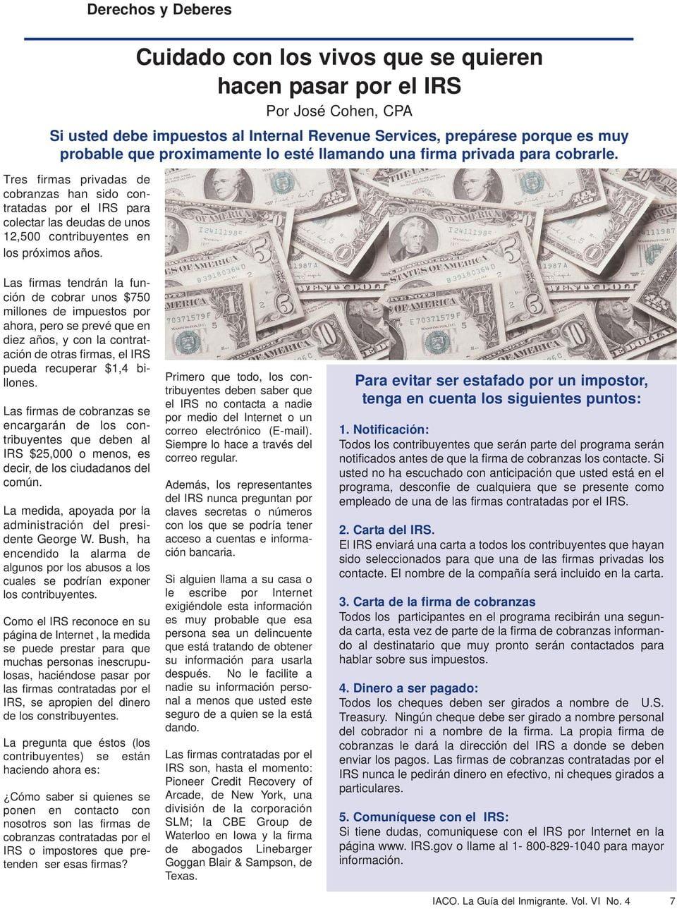 Mi carta abierta a Marco Rubio sobre el uso de cobradores privados por parte del IRS
