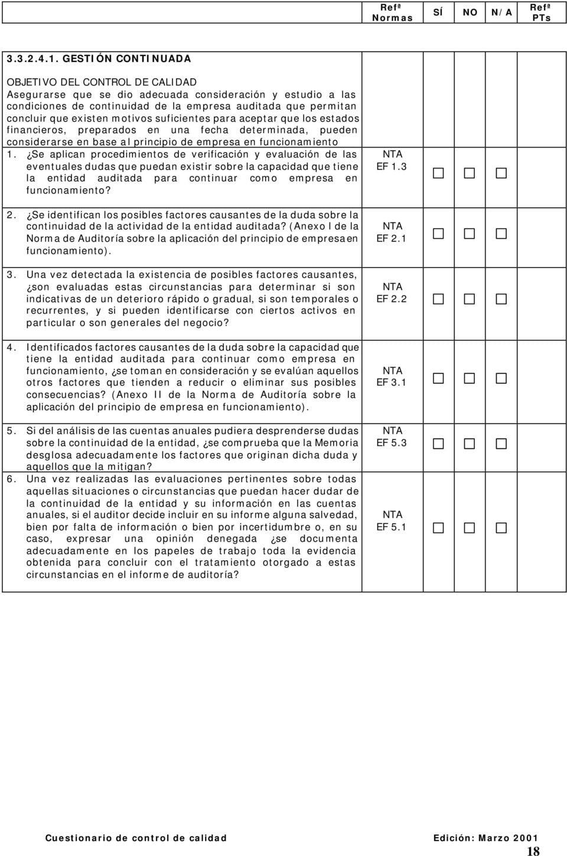 Normas de auditoría aclaradas: Consideración de los procedimientos omitidos
